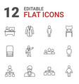 12 manager icons vector image vector image