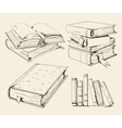 Books stack vector