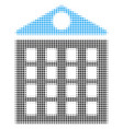 apartment house halftone icon vector image