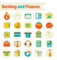 Banking and Finance set icons vector image