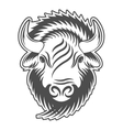 Bison head Sign emblem logo vector image vector image