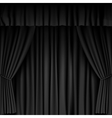 black curtain vector image vector image