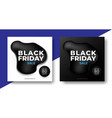 black friday sale banner design with fluid shape vector image