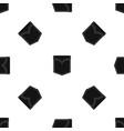 black valve pocket pattern seamless black vector image vector image