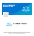 blue business logo template for forest camping vector image