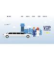 business partner people meeting in international vector image