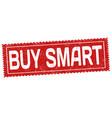 buy smart grunge rubber stamp vector image vector image