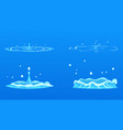 cartoon water splash collection vector image
