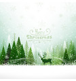 Christmas background with reindeer vector image vector image