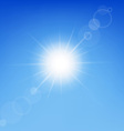 Clear sunny sky vector image vector image