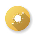 clear sunny sky yellow flat design long shadow vector image