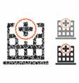 clinic building mosaic icon irregular parts vector image vector image