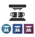 coffee machine icon in different variants vector image vector image