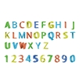 Colorful 3D font vector image