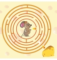 Cute Mouses Maze Game vector image