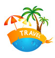 design for traveling vector image