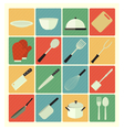 flat icons Kitchen vector image vector image