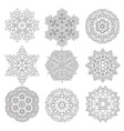 Geometrical flower set vector image
