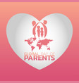 global day of parents logo icon design vector image vector image