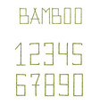 green realistic bamboo numerals isolated on white vector image