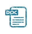 Grunge doc file icon