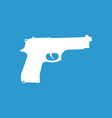 gun icon white on the blue background vector image