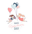 happy valentines day greeting card homosexual vector image vector image