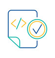 html tag blue and yellow thin line pictograph vector image vector image