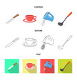 kitchen and cook sign vector image vector image