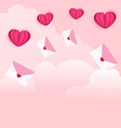 love letters on the cloud vector image vector image
