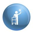 man walker icon simple style vector image vector image