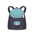 modern backpack icon flat style vector image