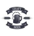 mug beer and ribbon for text vector image vector image
