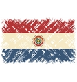 Paraguayan grunge flag vector image vector image