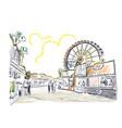 park amusement sketch line art vector image