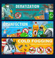 pest control banners disinfection deratization vector image vector image