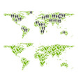 population and agriculture world map vector image
