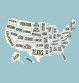 Poster map United States of America with state vector image vector image