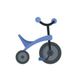 purple tricycle icon flat style vector image vector image