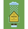 Rainwater collection vector image vector image