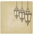 Ramadan lantern old background vector image vector image
