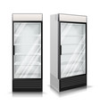realistic refrigerator cooling drinks vector image