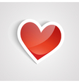Red heart on the white background vector | Price: 1 Credit (USD $1)