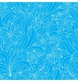 Seamless floral pattern in blue and white colors vector image vector image