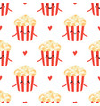 seamless pattern with popcorn characters vector image vector image