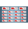 Set coupon banner vector image vector image
