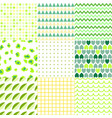 set of colorful elegant seamless patterns vector image vector image