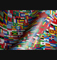 set wave flags all countries in vector image vector image