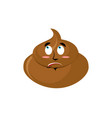 shit surprised emoji turd astonished emotion vector image vector image