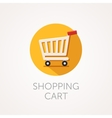 shopping cart Icon Flat style design vector image